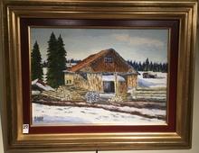 Raymonde AUBRY - Painting - La scierie aux Mortes