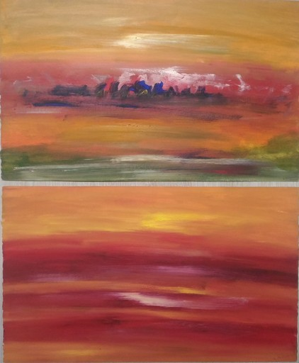 Ervin NEUHAUS - Peinture - COUCHERS DE SOLEIL