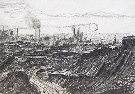 Friedrich EINHOFF - Drawing-Watercolor - #20012: Steinhalde, Gelsenkirchen