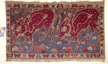 Georges MANZANA-PISSARRO - Tapiz - Deux phacochères et frise de papillons