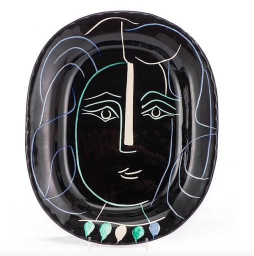Pablo PICASSO - Ceramiche - Visage au collier