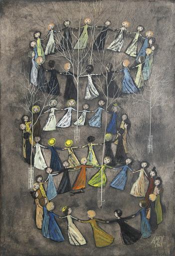 Antonio Menegazzo AMEN - Pintura - Dancing Children