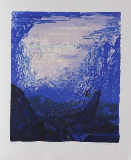 ZAO Wou-Ki - Print-Multiple - Les 4 saisons - Bleue