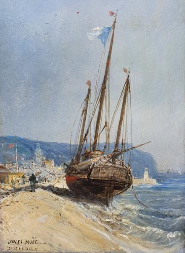 Jules Achille NOËL - Gemälde - bateau amarré