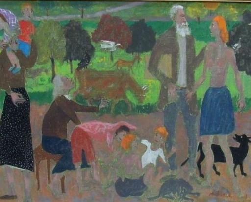 Grégoire MICHONZE - Painting - Village Life