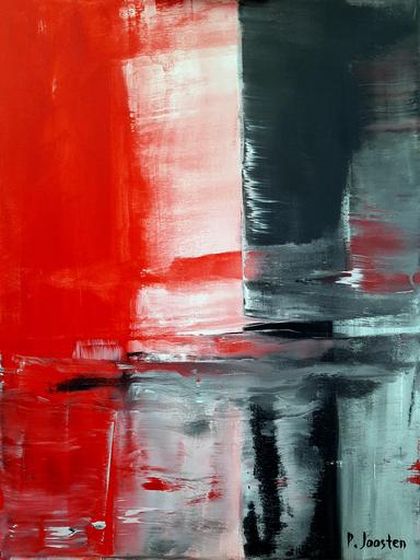 Patrick JOOSTEN - Peinture - Le Rouge et le Noir