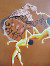 Vanessa LONGO - Painting - Do you think you can watch whilst mocking abandon my plumage