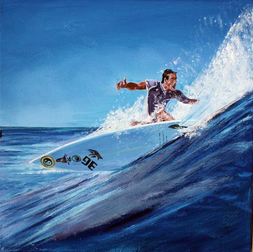 Jean PARRAUD - Painting - Surf à Sumbawa