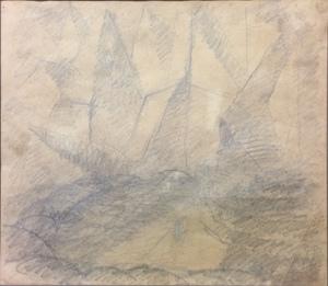 Gerardo DOTTORI - Dibujo Acuarela - Composizione