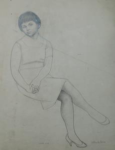 """Alberto DUCE BAQUERO - Disegno Acquarello - """"Mary lee"""""""