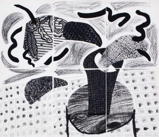 David HOCKNEY - Print-Multiple - Black plant on table