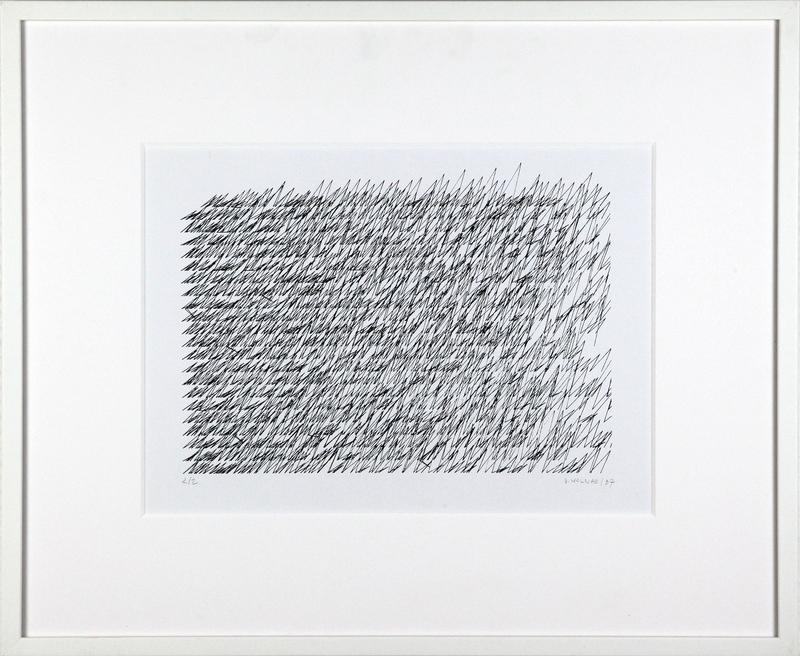 Véra MOLNAR - Drawing-Watercolor - Lettre de ma mère