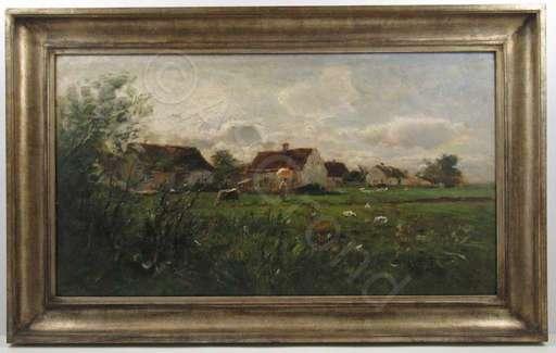 Nicolai VON ASTUDIN - Pintura - Ländlicher Sonntagsspaziergang