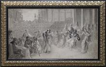 "Adalbert Franz SELIGMANN - Dessin-Aquarelle - ""At the Court of King Solomon"", late 19th Century"