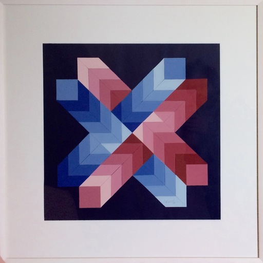 Victor VASARELY - Painting - Sans titre, vers 1980