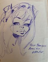 DANY - Dibujo Acuarela - Mlle Colombe