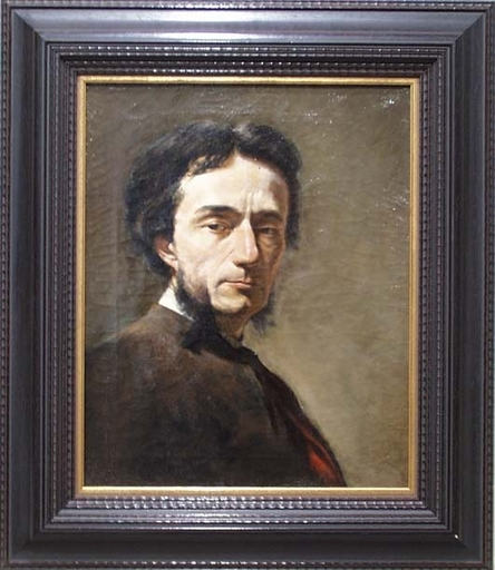 """Ludwig KNAUS (Attrib.) - Peinture - """"Male Portrait"""" , late 19th Century"""
