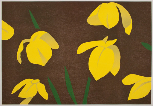 Alex KATZ - Grabado - Yellow Flags