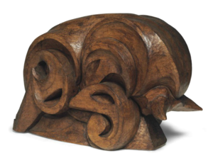 Ferdinand PARPAN - Sculpture-Volume - Le grand taureau chargeant