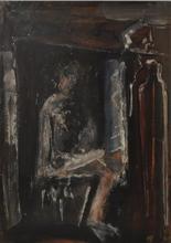 Mario SIRONI - Painting - Donna seduta