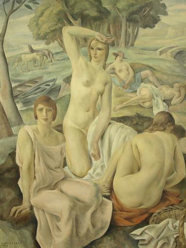 Louis BUISSERET - Peinture - Composition