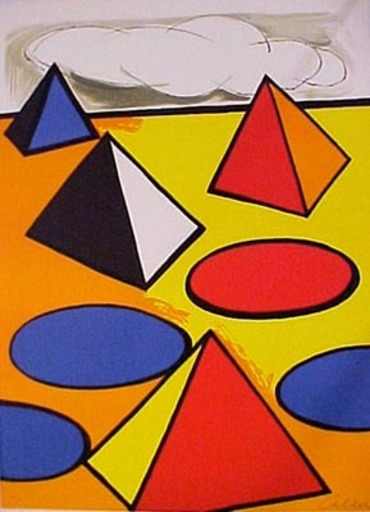 Alexander CALDER - Print-Multiple - Hommage to the pyramids