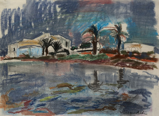 Willy EISENSCHITZ - Drawing-Watercolor - Ibiza