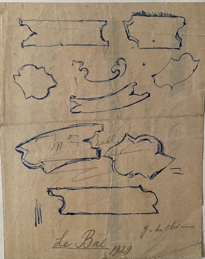 Giorgio DE CHIRICO - Zeichnung Aquarell - Le Bal