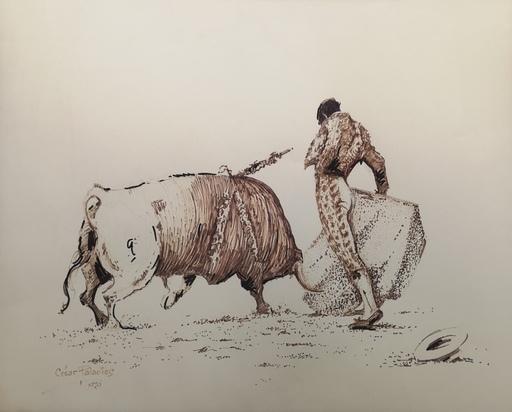 Cesar PALACIOS - Dibujo Acuarela - Torero