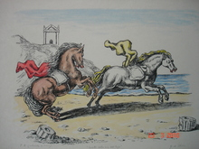 乔治•德•基里科 - 版画 - cavalli sulla riva dell'Egeo