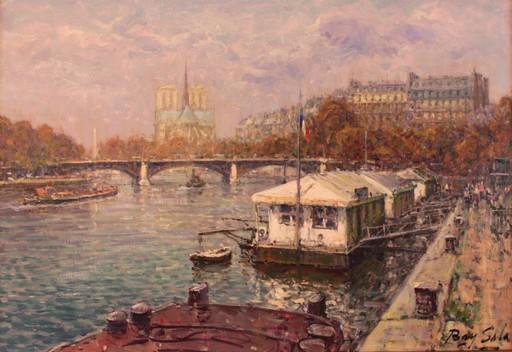 Juan BAYON SALADO - Painting - El Sena en Paris