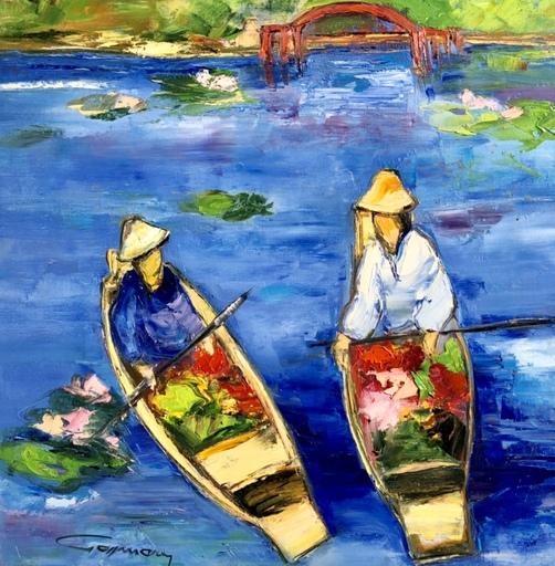 Bernard GASSMANN - Peinture - Jardin japonais