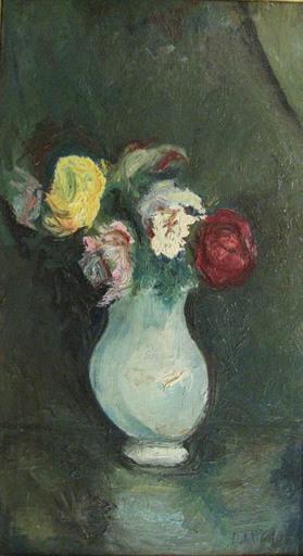 Gabriel DAUCHOT - Pintura - Vase de roses