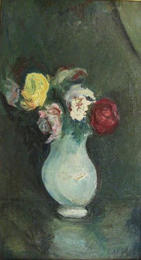 Gabriel DAUCHOT - Pittura - Vaso di Rose