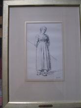 Charles Emile JACQUE - Drawing-Watercolor - LA BERGERE