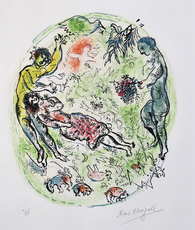 Marc CHAGALL - Print-Multiple - And you tied around your Tender Neck Intoxicating Garlands