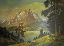 "Otto Eduard PIPPEL - Painting - ""Gebirgssee"""