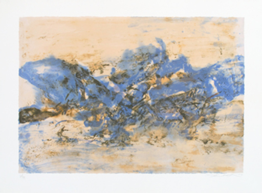 ZAO Wou-Ki - Estampe-Multiple - Composition