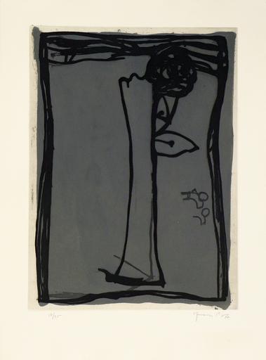 Joan HERNANDEZ PIJUAN - 版画 - Jarro con Rosa