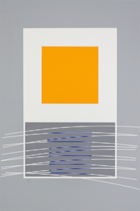 Jesús Rafael SOTO - Estampe-Multiple - orange et virtuel bleu