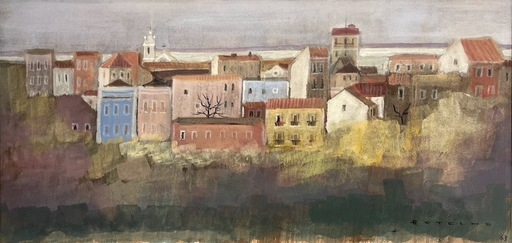 Carlos BOTELHO - Dibujo Acuarela - Untitled (Lisbon?)