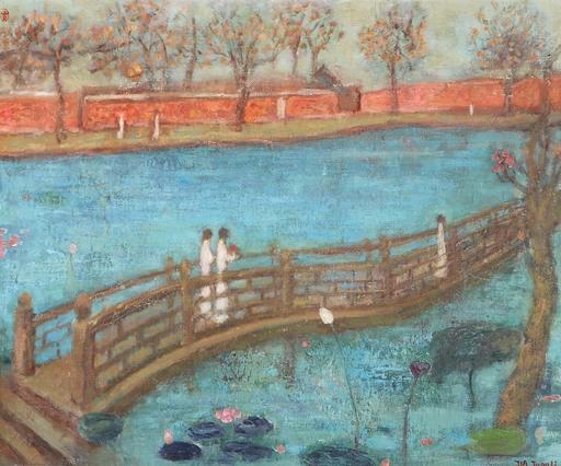 JIA Juanli - Gemälde -  Le pont sur le lac