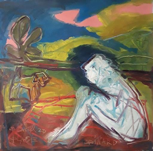 Bernard MOREL - Gemälde - CHIEN-CHIEN