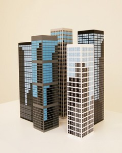 Julian OPIE - Sculpture-Volume - modern towers