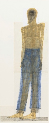 Walter PICHLER - Drawing-Watercolor - Blue Pants