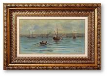 Fausto ZONARO (1854-1929) - Constantinople / Golden Horne