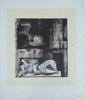 Henry MOORE - Druckgrafik-Multiple - Reclining Figure Architectural Background II