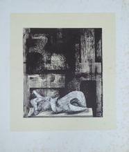 亨利•摩尔 - 版画 - Reclining Figure Architectural Background II