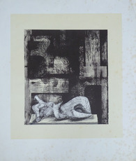Henry MOORE - Print-Multiple - Reclining Figure Architectural Background II