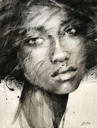 Ewa HAUTON - Pintura - Night rain